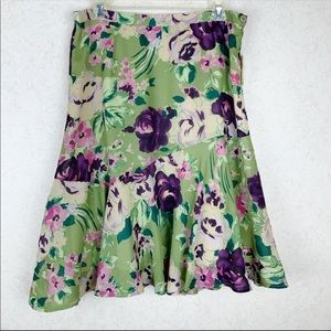 Coldwater Creek water floral bouquet skirt